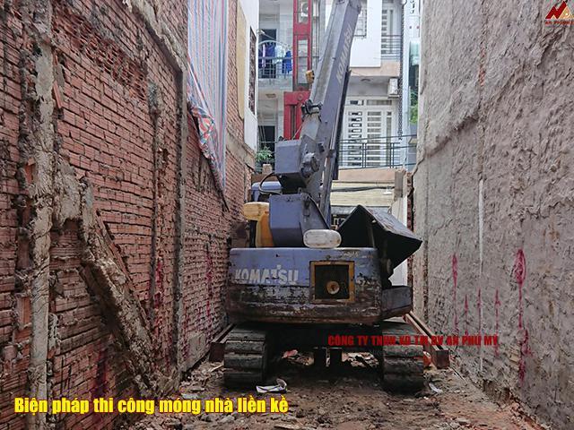 Biện pháp thi công xây dựng móng nhà liền kề
