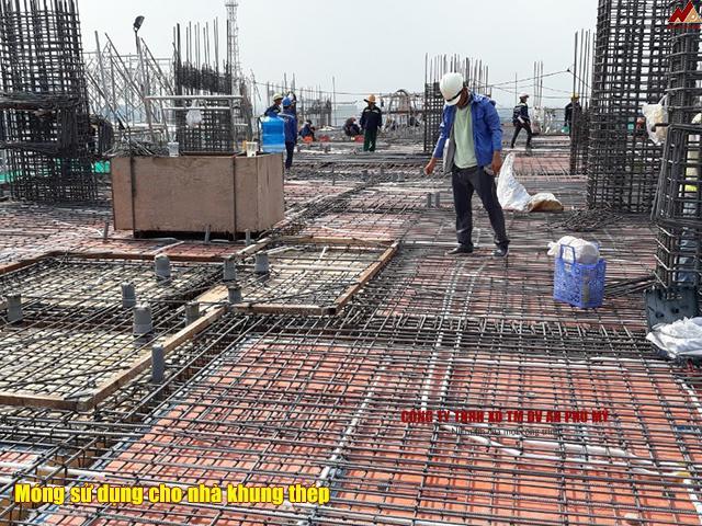 Các loại móng sử dụng cho nhà khung thép trong xây dựng