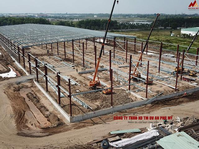 Kết cấu chi tiết của nền móng nhà thép tiền chế