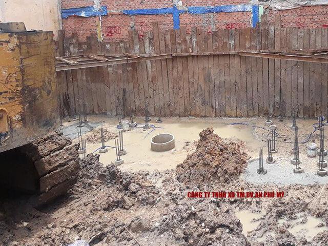 biện pháp đào đất tầng hầm