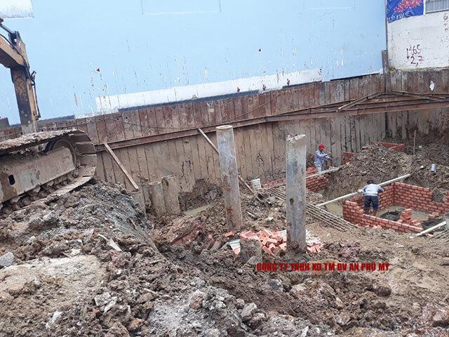 quy trình thi công đào đất tầng hầm