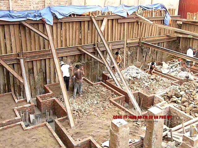 biện pháp thi công đào đất tầng hầm