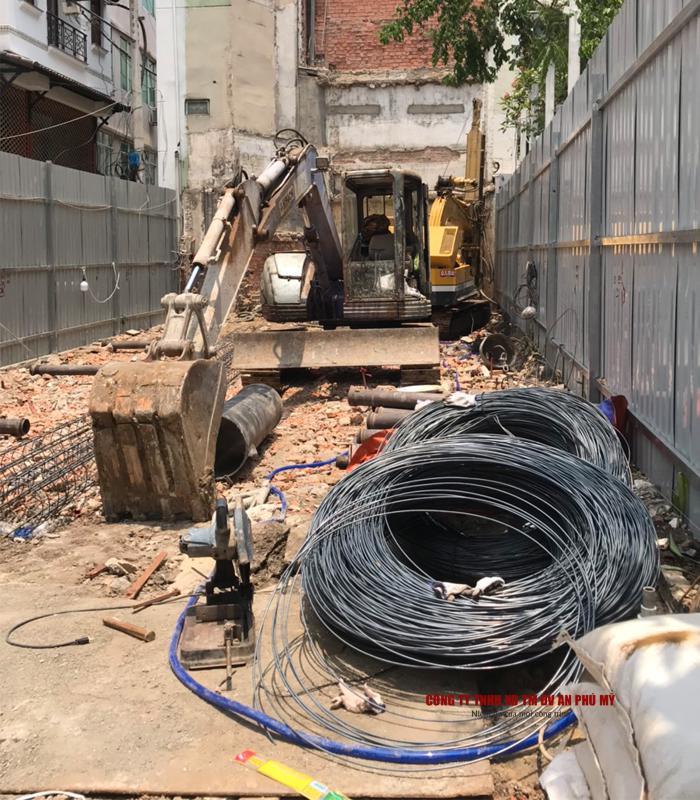 Công tác cốt thép và thả ống đổ